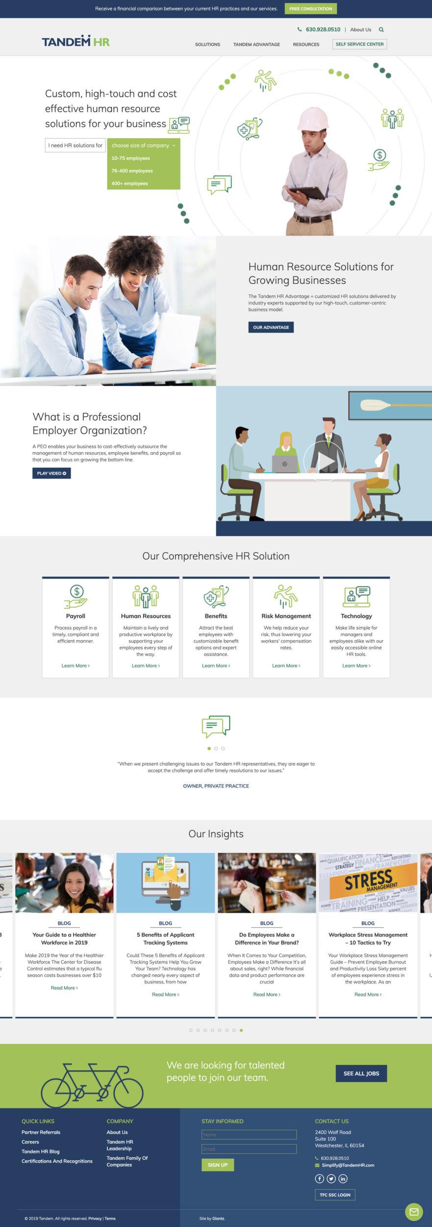 Tandem HR Website Scroll