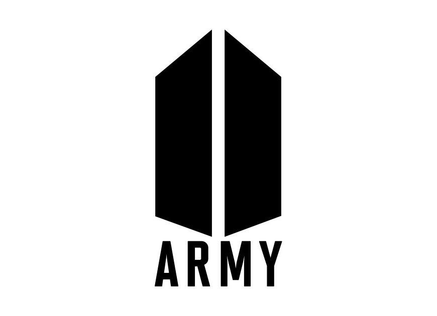 K-Pop fan logo for BTS Army