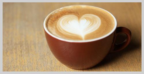 Latte Art Heart Shape
